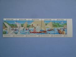 1987  Palau Yvert 192/6 ** Noël Christmas Bateaux Ships Scott 177a  Michel 211/5 SG 213a Oiseaux Birds - Palau