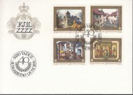 LIECHTENSTEIN 706-709, FDC, 40 Jahre Thronbesteigung, 1978 - FDC