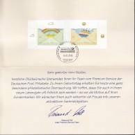BRD 2786-2787 Auf Faltkarte, Geburtstagsglückwünsche Der Deutschen Post Philatelie, 2010 - BRD