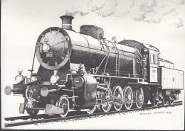 SCHWEIZ  1214-1215 Dreierstreifen MiF Auf AK: Dampflok, Mit St: Luzern 100 Jahre Gotthard-Bahn 3.6.1982 - Treinen
