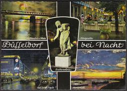 Germany Düsseldorf Bei Nacht / Bridge / Monument / Bowling / Ballwerferin - Düsseldorf