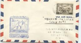 1935  Sydney To Halifax Experimental Service  July 30, 1935 - Primeros Vuelos