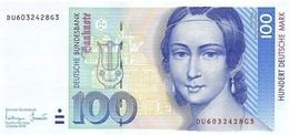 GERMANY FEDERAL REPUBLIC 100 DEUTSCHE MARK 1993 P-41c AU/UNC  [DE226c] - [ 7] 1949-… : FRG - Fed. Rep. Of Germany