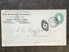K3 United States Etats-Unis USA Stationery Entier Postal Ganzsache U 311 160x89 Washington To San Francisco