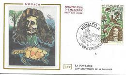 MONACO  350° Anniversaire De La Naissance De Jean De La Fontaine 1621/1695 Conteur Et Fabuliste  18/01/72