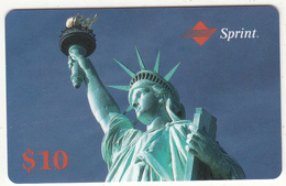 USA - The Statue Of Liberty/New York, Sprint Prepaid Card $10, Exp.date 11/93, Mint - United States