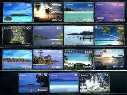 "Aitutaki    ""Tourism""   Set    SC# 547-61   MNH    SCV$ 20.85"