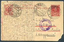 1916 Russia 4 Kop Romanov Censor Stationery Postcard. Moscow -  Yarrawonga, Victoria, Australia - Covers & Documents