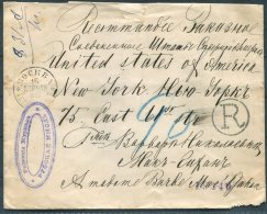 1895 Russia Moscow Overnight Registration Moscow 4th Exped. 20 Kop Cover - New York, USA - 1857-1916 Empire