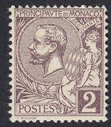 MONACO - 1891/1894 - Lotto Due Valori Nuovi: Yvert 11 MH Con Margine Di Foglio E Yvert 12 MNH. - Ongebruikt