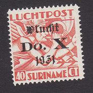 Surinam, Scott #C11, Mint Hinged, Allegory Of Flight Surcharged, Issued 1931 - Surinam