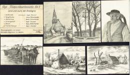 Feldpostkartenserie Nr 1 - Land Und Leute Der Bretagne - 6 Karten - War 1914-18