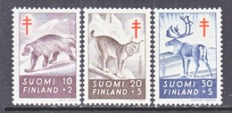 Finland  B 142-4   **  FAUNA REINDEER  LYNX  WOLVERINE    ANTI-TUBERCULOSIS - Finland