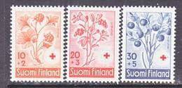 Finland  B 151-3   **  FRUITS    BERRIES  RED CROSS - Finland