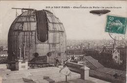 DA8- 75) TOUT PARIS - OBSERVATOIRE DE PARIS TERRASSE SUPERIEURE LA GRANDE COUPOLE - (ANIMEE - BALLON DIRIGEABLE) - Autres Monuments, édifices