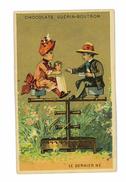 CHROMO IMAGE CHOCOLAT GUERIN-BOUTRON ILLUSTRATION ENFANTS LE DERNIER NE - Guerin Boutron