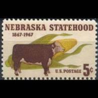 U.S.A. 1967 - Scott# 1328 Nebraska State Set Of 1 MNH - United States