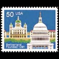 U.S.A. 1991 - Scott# 2532 Switzerland 700th. Set Of 1 MNH - United States