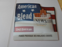TAPIS SOURIS PUB TABAC   NEWS AMERICAN BLEND    *****   RARE   A   SAISIR ***** - Objets Publicitaires