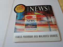 TAPIS SOURIS PUB TABAC   NEWS URBAN NIGHT   *****   RARE   A   SAISIR ***** - Objets Publicitaires