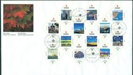 CANADA Série N°1250 / 1261 S/FDC 1992 (tp C:18€) Ttb - Enveloppes Commémoratives