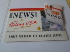 TAPIS SOURIS PUB TABAC   NEWS  FEELING USA   *****   RARE   A   SAISIR ***** - Objets Publicitaires