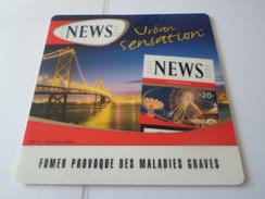 TAPIS SOURIS PUB TABAC   NEWS  URBAN SENSATION   *****   RARE   A   SAISIR ***** - Objets Publicitaires