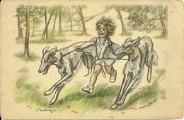 ILLUSTRATEUR GERMAINE BOURET FANTAISIE ENFANTS ENFANCE HUMOUR CHIEN - Bouret, Germaine