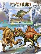 SIERRA LEONE 2017 - Dinosaurs S/S. Official Issue. - Prehistorisch