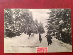 63 PIERRE SUR HAUTE Excursion Dans La Montagne Sur La Neige - France