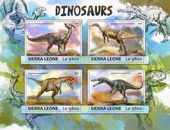 SIERRA LEONE 2017 - Dinosaurs. Official Issue. - Prehistorisch