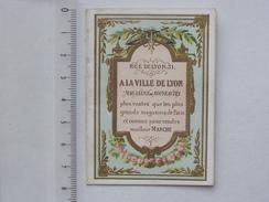 PUBLICITE Ancienne Magasins A LA VILLE DE LYON: Petit Carnet Publicitaire Cartonné 4 Pages - Advertising