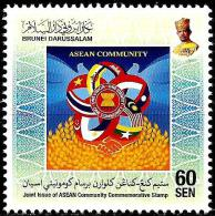 Brunei - 2015 - ASEAN Community - Joint Issue Of 10 Countries - Mint Stamp - Brunei (1984-...)