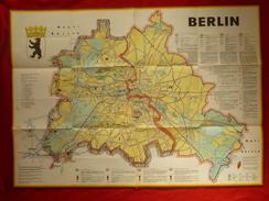 CARTE L ALLEMAGNE DIVISEE 1963 BERLIN Dim 82 X 60 - Mapas Geográficas
