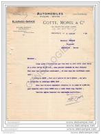 38 1277 GRENOBLE 1919 Automobile Moto COTTE Et  MOREL Et  JULITTA Agent LE ZEBRE TERROT SIZAIRE BERWICK  FOR - 1900 – 1949