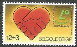 Belgique 1984 2128 ** Loterie Nationale Mains Cœur