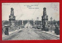 1 Cpa Carte Postale Ancienne - Madrid Puente De Toledo - Madrid