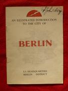 BERLIN QUARTIERS APRES GUERRE WW2 Architecture - Guerre 1939-45