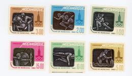Mozambique-1980-Lutte,équitation,canoe,tir à L'arc,natation-JO Moscou-YT683/8***MNH-vALEUR 3.50 - Sommer 1980: Moskau