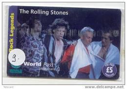 ROLLING STONES Sur Telecarte ANGLETERRE  ENGLAND Telefoonkaart (9) - Muziek