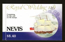 NEVIS - 1981 ROYAL WEDDING BOOKLET SG SB2 FINE MNH ** - St.Kitts And Nevis ( 1983-...)