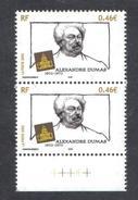 FRANCE 2002 Bloc De Deux (2)  YT N° 3536** Alexandre DUMAS -0.46€ BDF REPERE - Unused Stamps