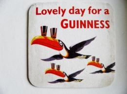 Beer Bier Coaster Lovely Day For A Guinness Birds Oiseaux - Sous-bocks