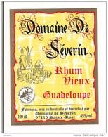 Etiquette Domaine De Séverin  - Rhum Vieux - 45%  100 Cl - Médaille Or 1997 -  Sainte Rose - GUADELOUPE -- - Rhum