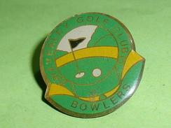 Pin's / Sport  : Golf , Waverley Golf Club  , Bowlers      TB2k - Golf