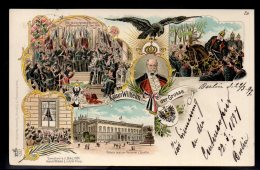 ALLEMAGNE - KAISER WILHELM DER GROSSE - LITHOGRAPHIE 1897 - Jolie Carte MultiVues - Royal Families