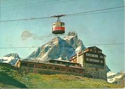 Cervinia Breuil (Aosta) Plan Maison, Belvedere E Funivia, Cervino Sul Fondo, Panorama, General View, Vue Generale - Other Cities