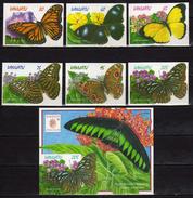 Vanuatu 1998 Butterflies - Self-Adhesive Stamps And S/S.SINGPLEX.Faune Papillons. MNH - Vanuatu (1980-...)