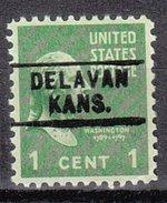 USA Precancel Vorausentwertung Preos Locals Kansas, Delavan 745