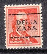 USA Precancel Vorausentwertung Preos Locals Kansas, Delia 701